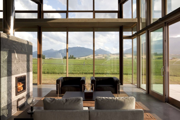 Interior-design-at-Luxury-and-modern-glass-home-design-by-Olson-Kundig-Architects