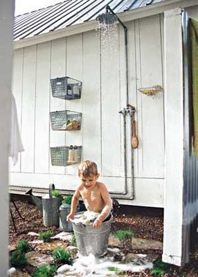 Outdoor shower from Country Home