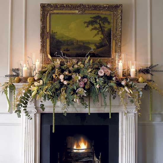 mantle christmas homes gardens - Decorating Your Mantel For Christmas