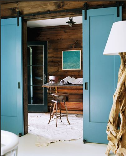 Meyer davis studio inc blue barn doors indoor interior