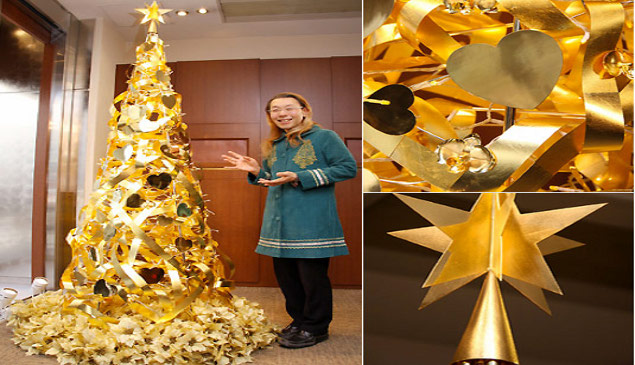Golden-christmas-tree