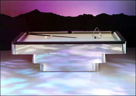 POOL TABLES Sandra Espinet - Clear pool table