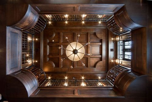 Library paneling ceiling luxury house