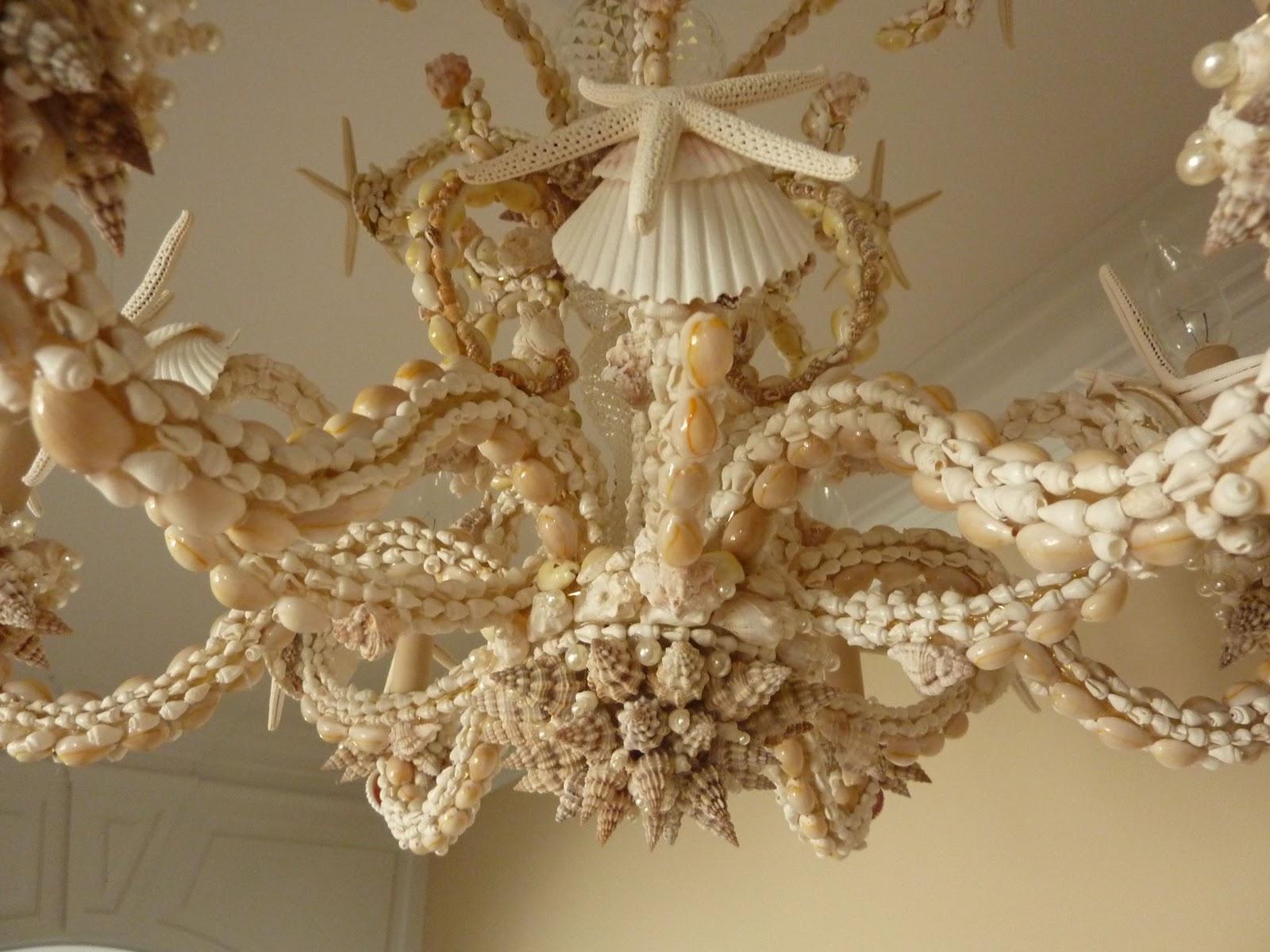 bliss cozy seashell chandelier chandeliers shell chandeleir