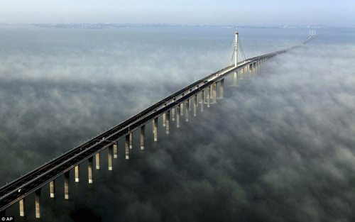 Jiaozhou Bay Bridge in Qingdao 26.4 miles